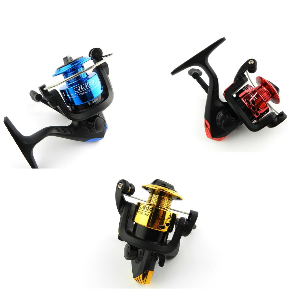 2018 New OEM Fishing Reels 3 Colours JL200 3BB Fishing Spinning Reels Ratio 5.1:1 Aluminium Body 150g HJ127 Free Shipping