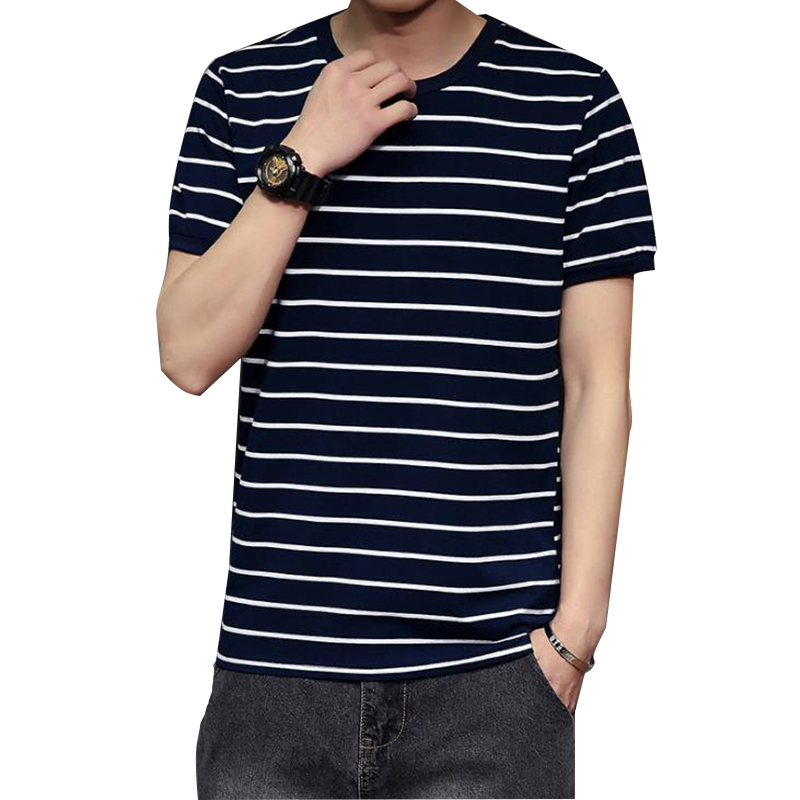 2018 Summer Mens Hip Hop Striped Short-Sleeved T-Shirt Cotton Fitness Short Sleeve Man Camouflage Tshirt Clothing Plus size 5XL