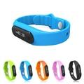 Tela de toque inteligente pulseira e06 mi banda pulseira para android à prova d' água rastreador de fitness pulseiras