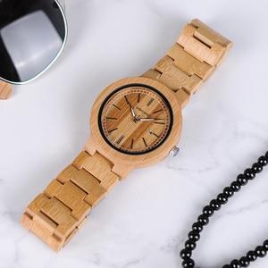 Image 4 - ボボ鳥 LP23 ドロップ無料デザイナー竹木製腕時計男性ステンレス鋼クラスプクォーツレロジオでボックス