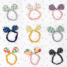 LNRRABC 2018 New  rabbit ear Cartoon Bowknot Korean Hair Accessories Popular Cute Band Printed Kids 1PC Girls headband