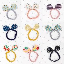 LNRRABC 2018 New  rabbit ear Cartoon Bowknot Korean Hair Accessories Popular Cute Hair Band Printed Kids 1PC Girls headband