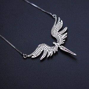 Image 4 - Newranos collier à pendentif aile dange pour femmes, en zircon cubique, pavé, couleur Champagne or, bijoux, NFX001402