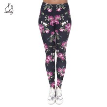 Casual Sexy Women Leggings Big Size Highly Elastic Warm Pants Fitness Put Hip High Waist Trouser 3D Flowers Print Hot Sale Maidy