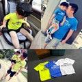 Oferta especial de Moda de Verano Familia Equipada de Niños Niñas de Algodón de Aire Respirable Camiseta Manga Corta Madre Niños ropa A Juego