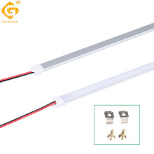 LED Under Cabinet Light 4W 7W Rigid Strip Bar Lights Kitchen Home Hardwired Quarto Bookcase Closet Shelf Wardrobe Armoire Lamp 2pc 50cm led bar light 42leds 2835 smd ultra thin lamp indoor light seamless connecting rigid led strip kitchen bookcase cabinet