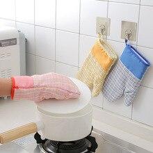 1 шт. распродажа перчатка для духовки термостойкие рукавицы кухонная принадлежность, микроволновая печь барбекю изоляция Нескользящие Утепленные перчатки F2607