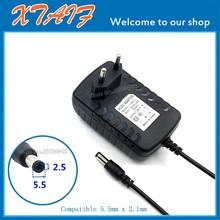 EU/US Plug 24V 500mA 1A Switching Power Supply adapter 100-240 AC Tip OD:5.5mm ID:2.5mm