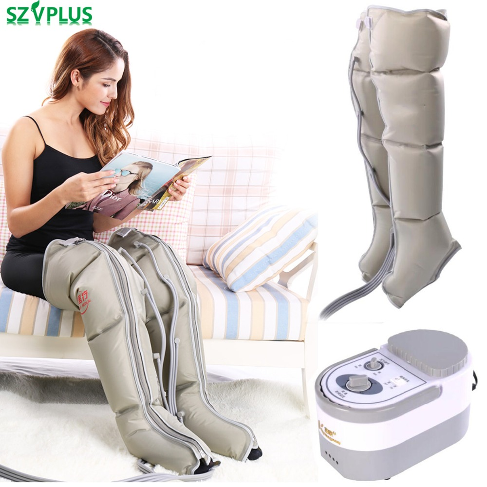 Leg Wraps Foot Ankles Calf Massage Machine Electric Air Compression Leg Massager Promote Blood Circulation Relieve Pain Fatigue цены