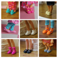 10Pairs/lot Cute Mini Doll Shoes Fashion Simba Little Kelly Dolls Shoes Sandles Slippers Children Girls Toy
