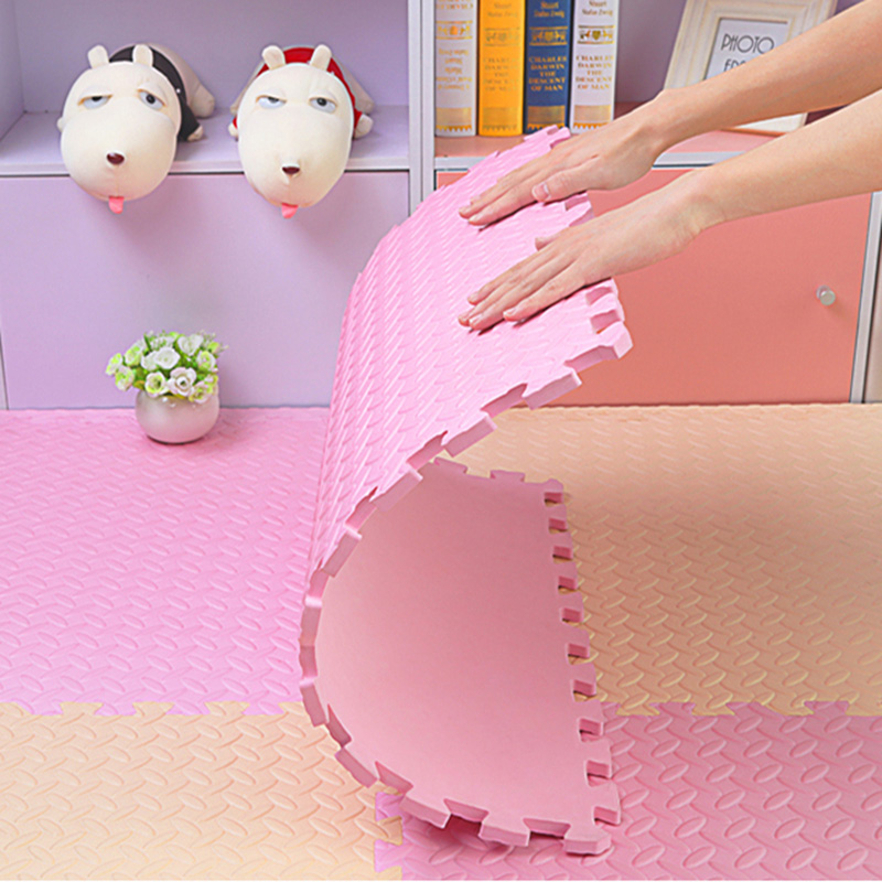 JCC feuille motif Puzzle EVA mousse bébé tapis de jeu/enfants tapis tapis de verrouillage exercice plancher pour enfants carreaux 60*60*1.2 cm - 2