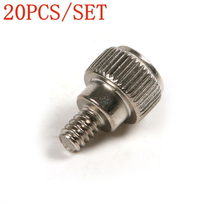 Newest 20Pcs 6#32*5 Screws Kit Carbon Steel Philips Thumb Screws for M3.5 Computer PC Case DIY Fastener Screws Tool High Quality new 3u ultra short computer case 380mm large panel big power supply ultra short 3u computer case server computer case