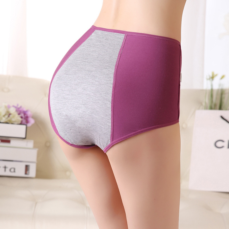 2019 Calcinha Sales Promotion New Underwears High Waist Belly Bamboo Panties 3pc/lot Teenage Girls Intimates Solid Briefs