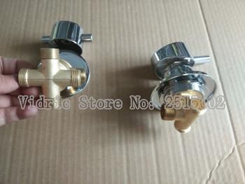 Customized 2/3/4/5 ways thread style split valve water tap, Bathroom barss faucet water separator shower room mixing valve