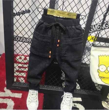 Розничная продажа, 2019 г., детские джинсы для мальчиков джинсовые штаны с рисунком для мальчиков повседневные джинсы на осень, модные дизайнерские брюки для детей от 2 до 6 лет