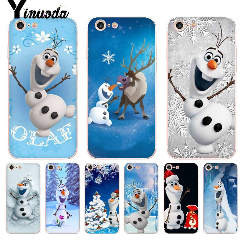 Yinuoda For iphone 7 6 X Case Olaf the Snowman Coque Shell Phone Case for iPhone