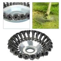 8 多機能草カッタートリマー部品鋼線錆除去除草ヘッド回転式雑草ブラシ芝刈り機アクセサリー