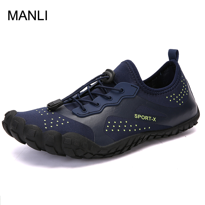 MANLI Summer Men Breathable Aqua Shoes Beach Sandals Adult Slippers Sport Upstream Shoes Women Diving Socks Tenis Masculino