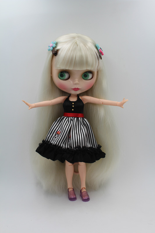Free Shipping BJD joint RBL-240J DIY Nude Blyth doll birthday gift for girl 4 colour big eyes dolls with beautiful Hair cute toy