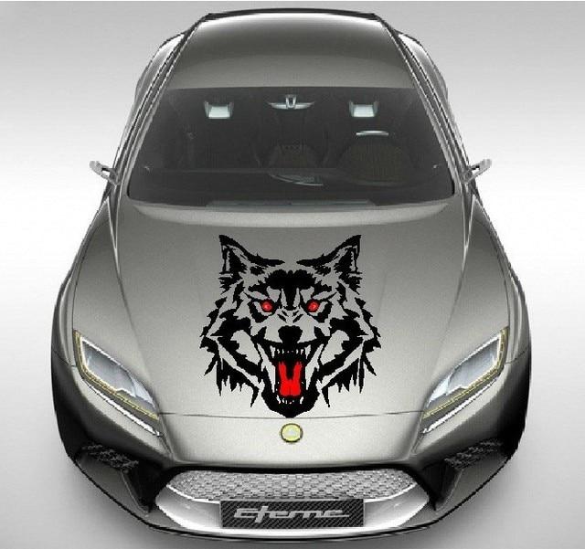 Aliexpresscom Buy SIZES Cool Wild Wolf Car Head Engine Hood - Cool car decals designcar foil hood stickerscustom car body side sticker design buy