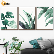 Watercolor Tropical Plant Nordic Poster And Print Wall Art Canvas Painting Pictures For Living Room Scandinavian Home Decor