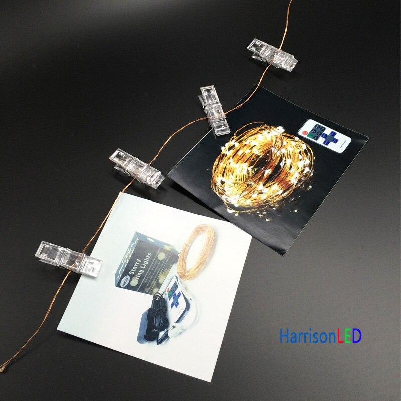 HarrisonTek10x 33ft100 СИД Мерекелік шамдар мыс - Мерекелік жарықтандыру - фото 2