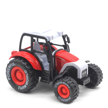 1:32 Alloy Car Tractor Toy Model Farm Vehicle Boy Toy Car Model with Light Music Pull Back Car Toy Model Kids Best Gift