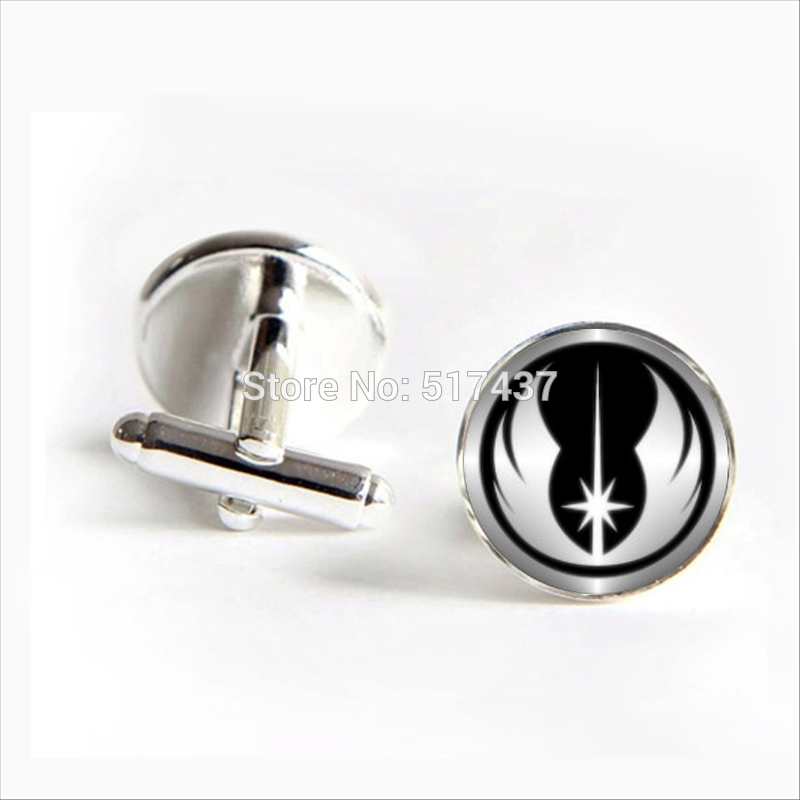 2017 Wholesale Star Wars Cufflinks Star Wars Cuff Link Glass Star Wars Cufflink Brand Cuff Links Men