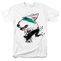 Zombie Panda 2018 Fashion Bull Terrier T Shirt Men Cartoon White Tshirt WOMEN OVERSIZE TOP TEE