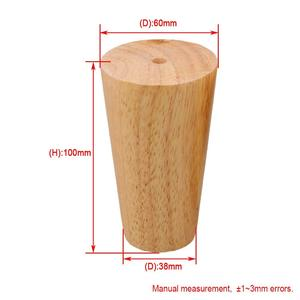 Image 4 - 4Pcs Natural Wood Reliable 100x58x38mm Wood Furniture Leg Cone Shaped Wooden Feet for Cabinets Soft Table