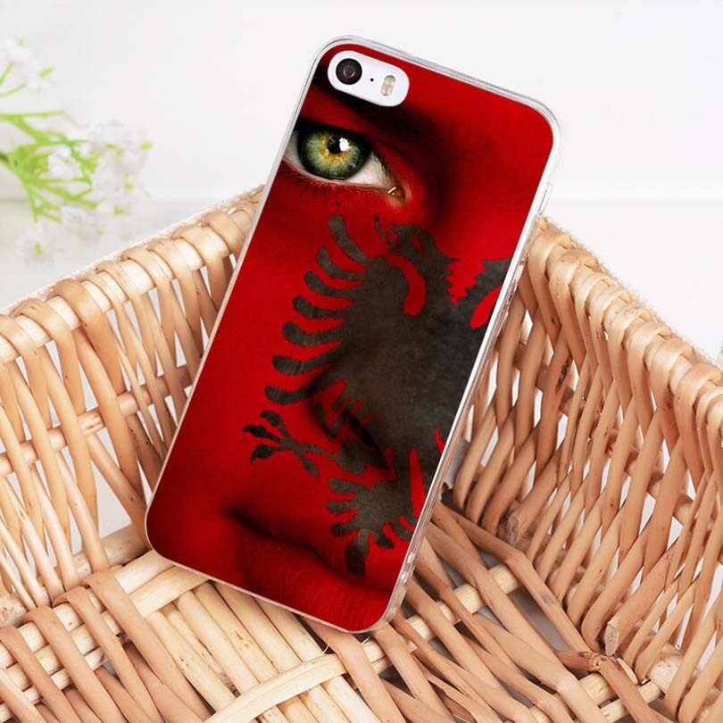 MaiYaCa アルバニア旗ソフト tpu 電話ケースカバー iphone 8 7 6 6S プラス X XS 最大 XR 5 5S 、 SE 11pro 最大ケース