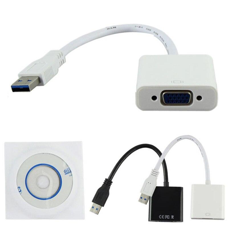 HQ 1080 P USB 3.0 vga Çoklu Ekran Video Grafik Harici Kablo Adaptörü için Tel Win 7/8/10 laptop DVD oynatıcı tabletler