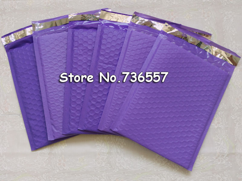 [50pcs] Purple Pink Blue Self Sealing padded Mailing Bag 6.5X9inch / 165X229MM Usable space Poly bubble Mailer envelopes