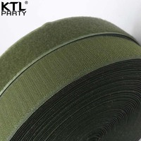 25meters * 2.5cm olive green magic nylon hook and loop fastener tape ties olive military hook and loop tape ties velcros