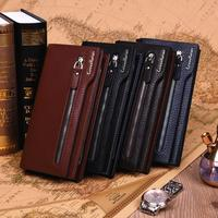 Luxury Brand PU Leather CUREWE KERIEN Men Long Wallet PIDENGBAO Vintage Style Clutch Bag Coin Purse