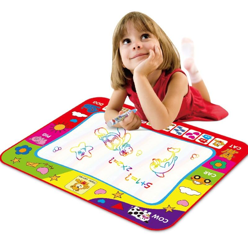 80x60 см Детские игрушки воды Рисунок Живопись Написание коврик с волшебной ручкой картина в рисунок игрушки доска подарок на Рождество