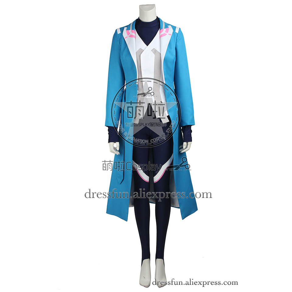 Pokemon GO Cosplay Costume Blanche Costume Comfortable Blue Coat Outfits Full Set Fast Shipping Fashion Christmas Party