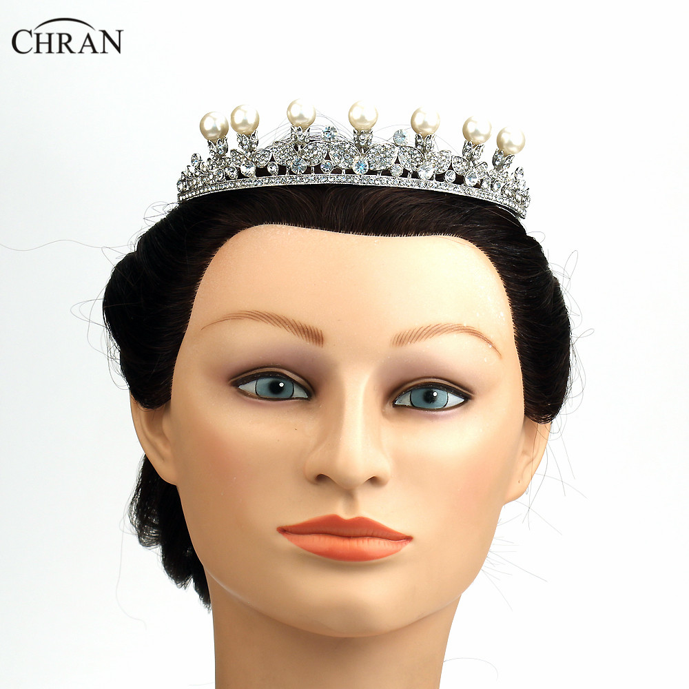Chran brand costume hair jewelry accessories silver plated pearl chran brand costume hair jewelry accessories silver plated pearl wedding crown promotion flower bridal queen crown tiaras in hair jewelry from jewelry izmirmasajfo