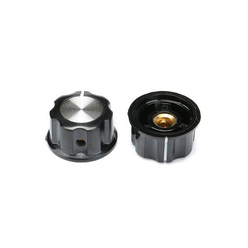 Bakelite 23mm Knob Volume Rotary Switch 6mm Potentiometer Sound MF-A02 Cap