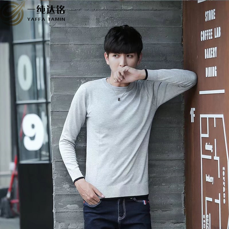 2017 Brand Men Sweaters Pullovers V-Neck knitting Pullovers for men black gray purple Casual Sweaters male fashion pullover