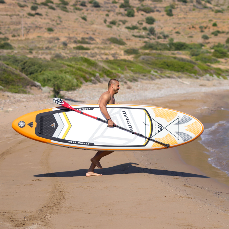 330*81*15 cm gonflable planche de surf stand up paddle conseil AQUA MARINA MAGMA pédale contrôle conseil sup sac laisse paddle a01005