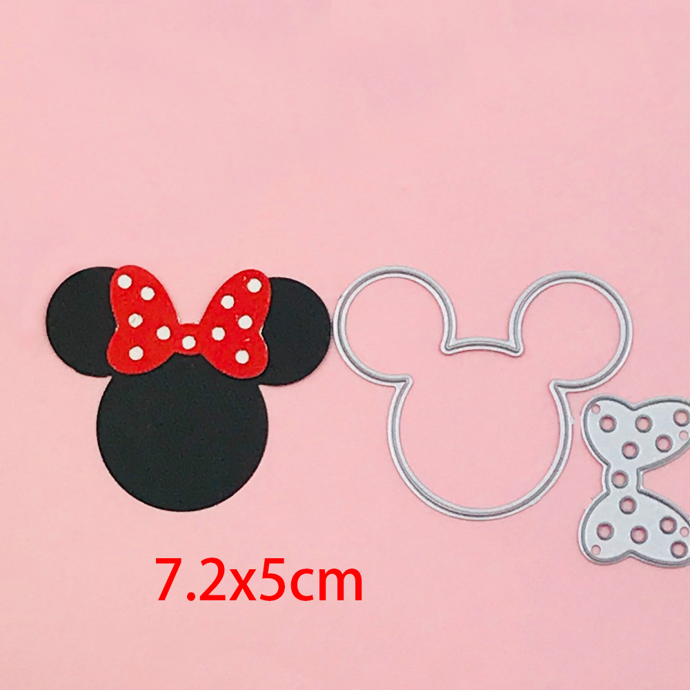 Mickey Mouse Crafts Metal Cutting Dies Scrapbook Paper Craft Decoration Dies Stencil For Album Card Making Knife Punch New Dies
