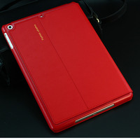 For New IPad 2017 9 7 Inch Genuine Leather Tablet Case Stents Dormancy Stand Cover Fundas