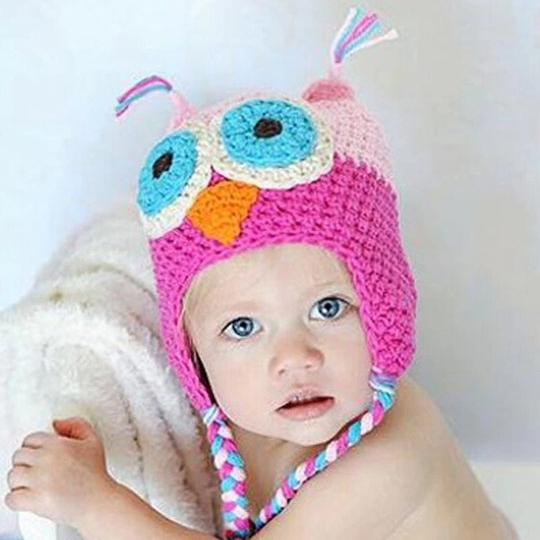 Animal girl baby winter hats c5d45e4aa5da