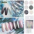 BlueZoo 6 colores/pack Hoja Transferencia Nail Stickers Decals Full Cover Shell Cielo Lentejuelas Pegatinas de Belleza de Uñas DIY Decoraciones uñas
