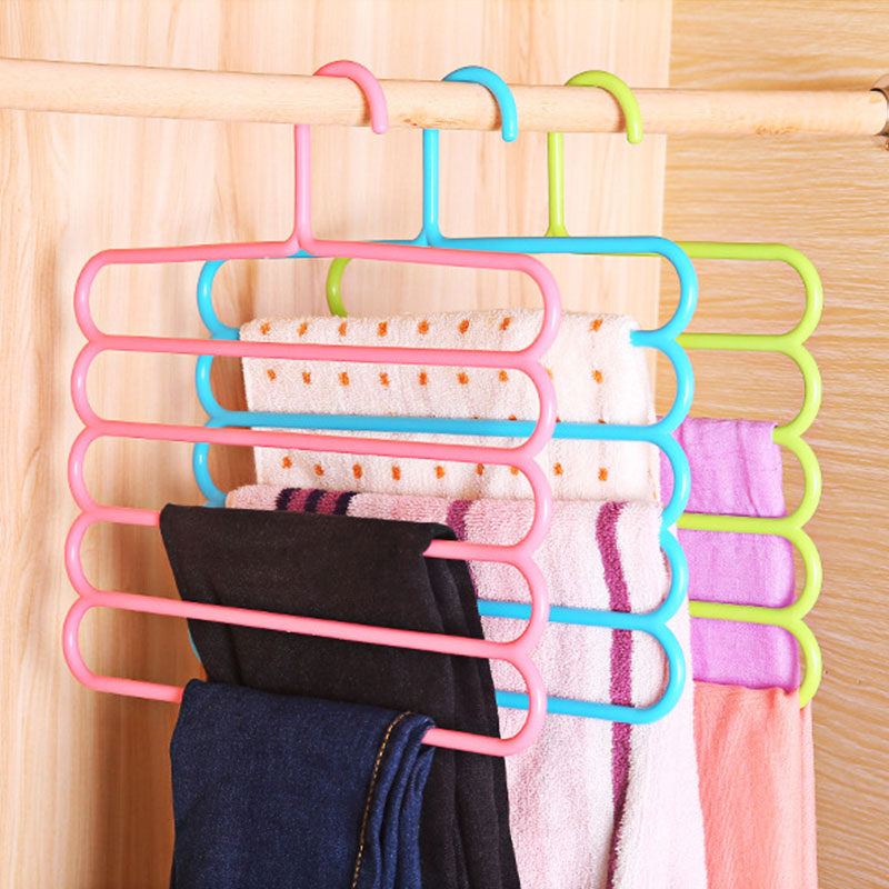 Five layer drying racks multi functional innovative hanger multi storey scarf racks anti slip pants folder Dropshipping X-in Storage Holders & Racks from Home & Garden