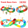 Diecast DIY Puzzle Rail Toy Electric Rail Car Roller Coaster Race Track Car Vehicle Educational Toys