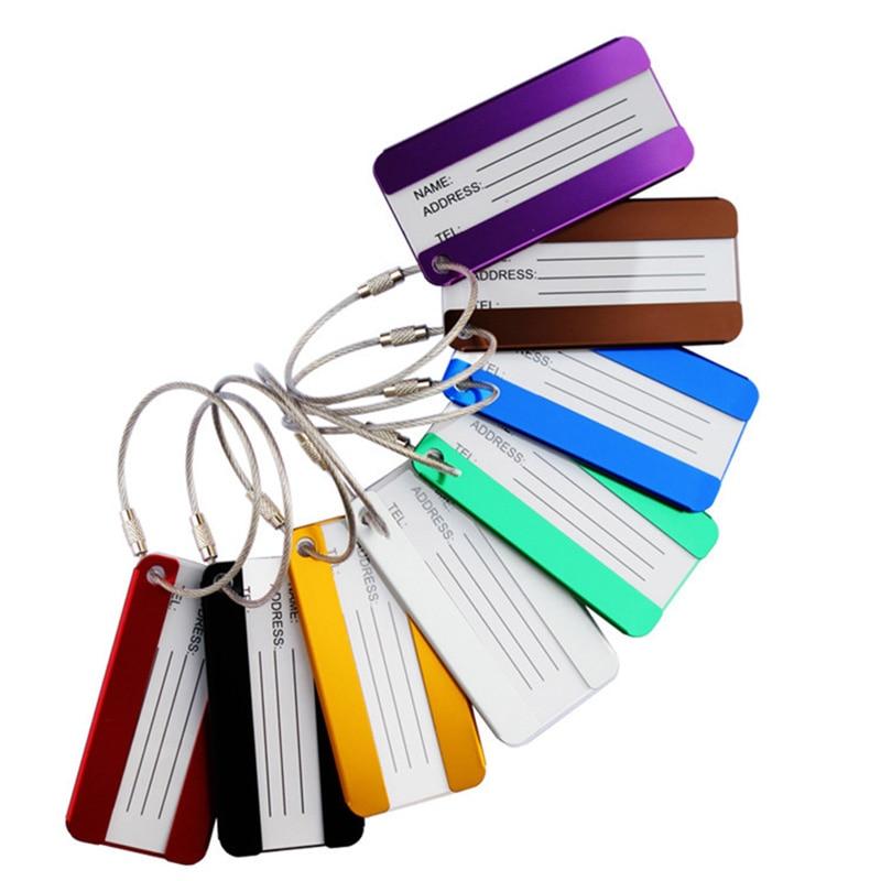 1 Stück Gepäck Tags Aluminium Legierung Funky Reise Gepäck Label Riemen Koffer Name Id Adresse Tags Reisen Zubehör Hochwertige Materialien