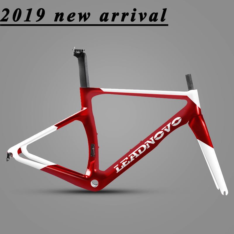 2019 arrivée V frein carbone cadre de route câble intérieur 3 k 1 k BSA BB30 finition mate brillante peut personnalisé cadre de vélo de peinture