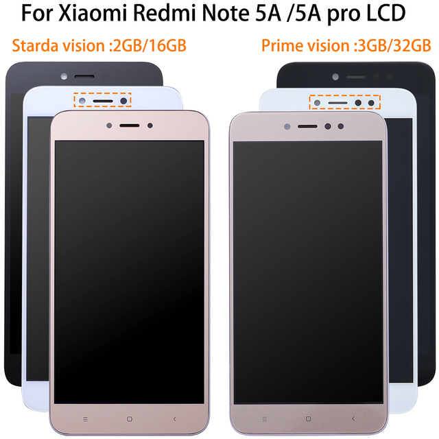 1920*1080 5.5 Inch AAA Quality LCD+Frame For Xiaomi Redmi Note 5A LCD Display Screen For Redmi Note 5A Prime Y1 / Y1 Lite LCD
